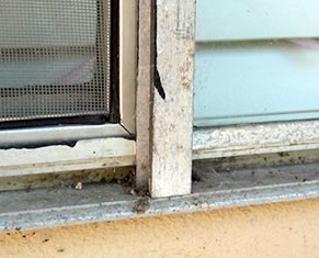 The original aluminum windows in our home had become dirty and discolored.
