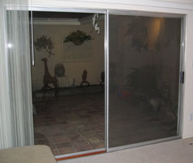 Old patio doors that lack tempered glass can be a safey hazard.