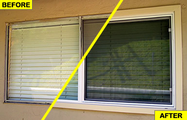 Before and after: We replaced our aluminum windows with vinyl windows to improve energy efficiency, reduce noise and beautify our home.